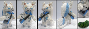 Aiak crochet plush by SinfulHare