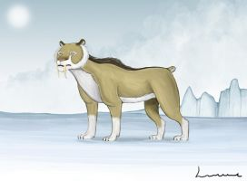 Saber-Tooth Cat by Louisetheanimator