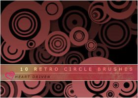 Retro Circle Brushes by HeartDriven