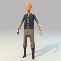 Lowpoly Hero (WIP) by lithium-sound