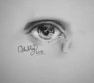 Eye Drawing  by ashilraj