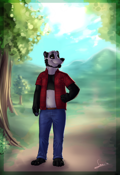 Commission for a Panda :) by renadrawer