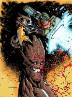 Studies 15 Rocket and Groot by HectorRubilar