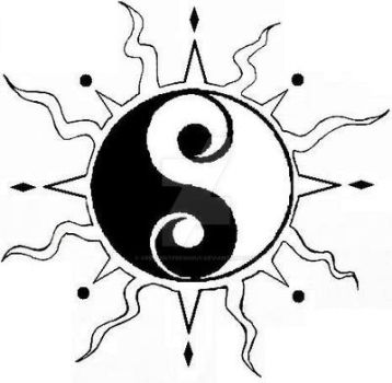 Yin Yang Tattoo Design by CrescentFreshGuy