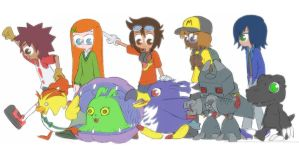 Digimon fan comic characters by Blitzkrieg1701