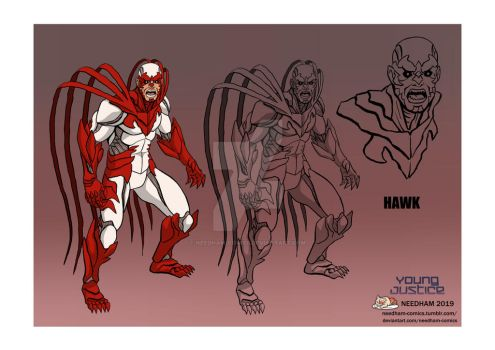 Young Justice Character Designs, Hawk