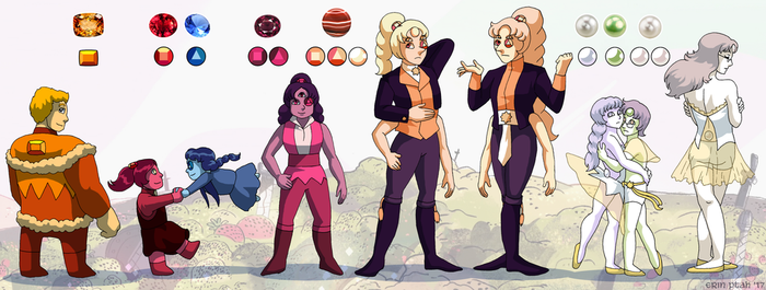 Embassy Gem Family Fusions by ErinPtah