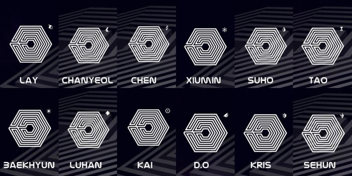 [EDIT] New logos for EXO's 'powers.' by imawesomeee03