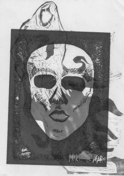 Skull-face + Ghostie Bw 1 by Mike-Le-Pearce