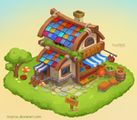 Fruit House Design - Concept Art Props Isometric by TinyTruc