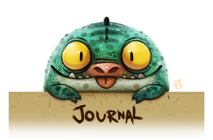 Daily Painting 615# DA Journal Banner by Cryptid-Creations