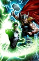 Thor-Green Lantern by JPRart