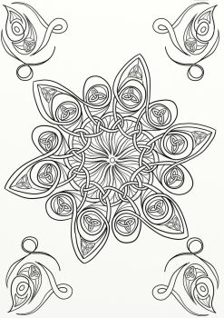 Celtic Knot Mandala 09 by LorraineKelly