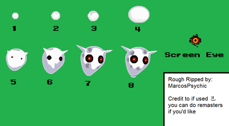 DRM Ghosts and Screen Eye Sprites - Roughly Ripped by MarcosPsychic