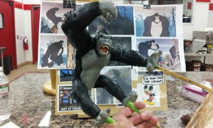 King Kong figure sculpt view 2 by Speezi