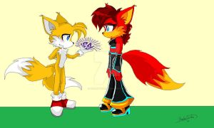 Tails an Fiona by HarleyTurbo