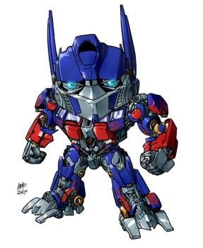 SD movie Optimus Prime by Mintyrobo