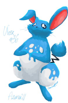 Top 50 Challenge - Week #36: Azumarill by SilverStrangequark