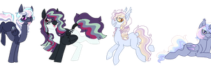 Feathers and Leather | Breedable Ponies | CLOSED by Pawscratch