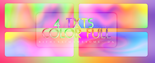 4 TXTs Color Full by BitchesImAwesome