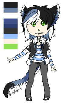 Chibi Ref: Rylee by PineappleSwizzle