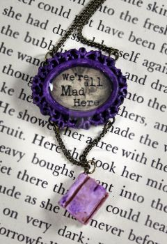 We're all Mad Here Necklace by NeverlandJewelry