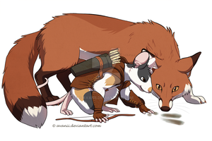 Commission: Two Hunters by Avanii