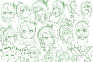 Fairy Tail OC: Expression Sketch 2 by kazumimomoi