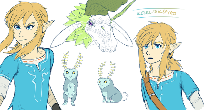 Breath of the Wild - sketches by IcelectricSpyro