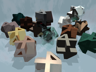 Cubes of Fours by jb-adder