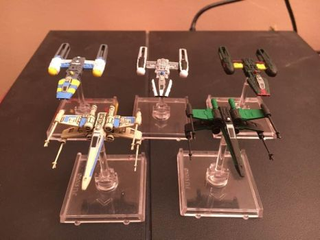 star wars x wing miniatures painted lot 2 by thatguy4802
