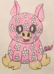 webkinz daisy pig drawing by lpscat123