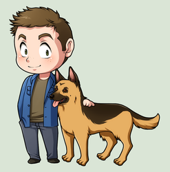 SPN Dogs #01 by NessaSan