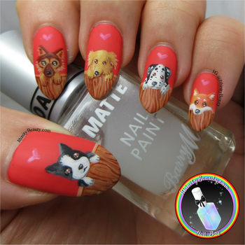 Freehand Puppy Nail Art by Ithfifi