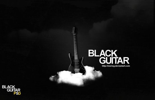 Black Guitar PSD by MericG