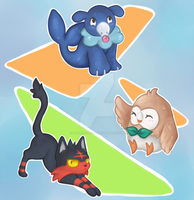 Choose Your Starter!  ((Pokemon Spoilers)) by Howling-night