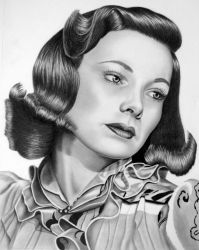 Gene Tierney by dougstickney