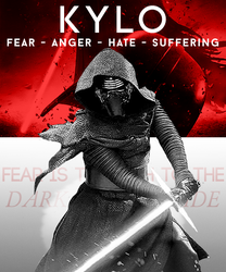 Kylo Fan Poster by mercscilla
