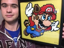 Super Mario Brothers 3 Cover Art Perler by Pingpong980