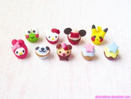 San-X, Sanrio, Character Cupcakes~ by kpossibles