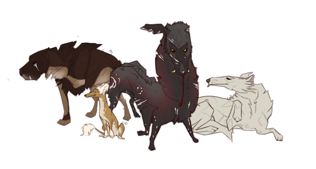 Mafia Dogs Pack Bros (Not really) by KreisYMutt