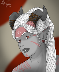 Qunari Female. by RYANBOIRDRLAWDS