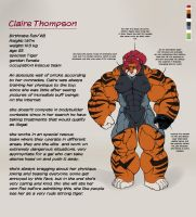 Claire Thompson - reference by faogwolf