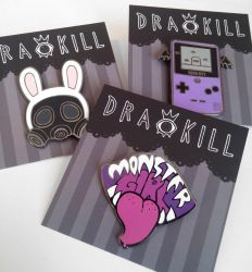 New Pins! by DrawKill