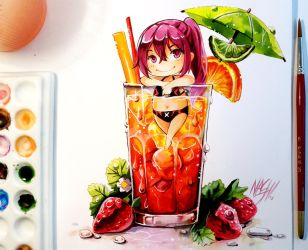 Gou Sunset Splash + VIDEO by Naschi