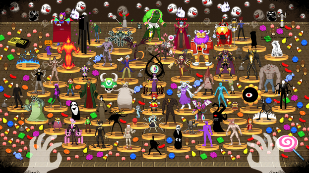 Happy Halloween Final Bosses by ScepterDPinoy