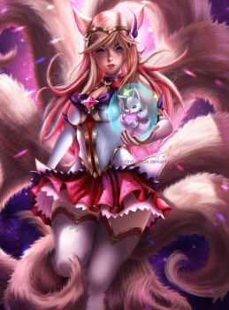 Star Guardian Ahri by IndyMBra