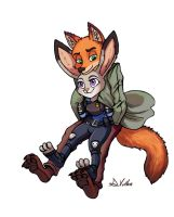 Nick and Judy by TheLivingShadow