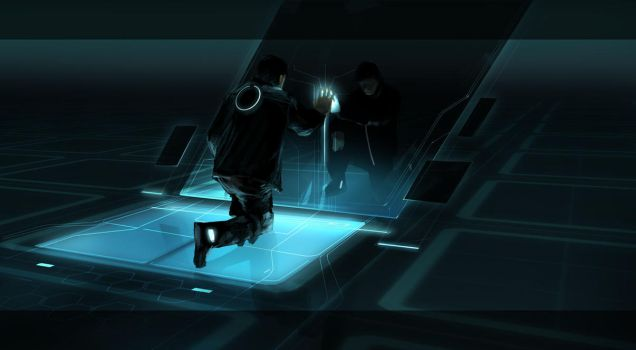 Tron Legacy Clu creation by vyle-art