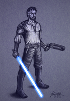 Kyle Katarn Sketch by kaio89